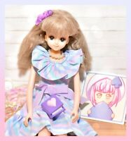 ❤️VTG Takara Japan Jenny Barbie Excelina Doll Blue Eyes Sauvage Dress Licca❤️