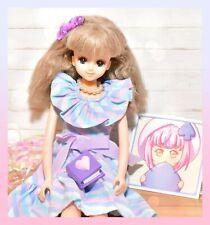��Vtg Takara Japan Jenny Barbie Excelina Doll Blue Eyes Sauvage Dress Licca��
