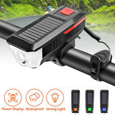 USB Rechargeable LED Bicycle Headlight Bike Head Light Front Lamp Cycling + Horn