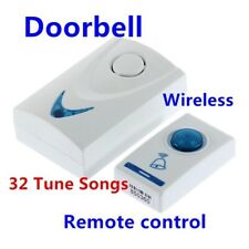 LED Battery Powered Remote Control Wireless Doorbell 32 Tune Songs 100M Range