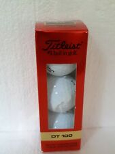 New listing Titleist Dt Wound 100 Golf Balls New In Box 3 balls ( one sleeve)
