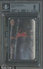 2007-08 UD Chronology Blue Michael Jordan HOF Signed AUTO 31/99 BGS 9 w/ 10
