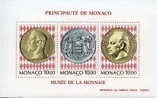 TIMBRE DE MONACO BLOC N° 66 ** MUSEE DES TIMBRES ET MONNAIES / PIECES DE MONNAIE