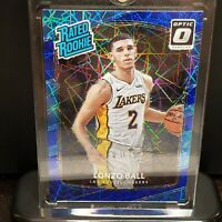 2017-18 Panini Optic Lonzo Ball Rated Rookie Blue Velocity Prizm RC Lakers