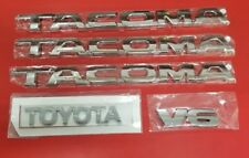 Toyota Tacoma Emblems 5 Pcs Set/ Doors And Tailgate Chrome Abs Decals New
