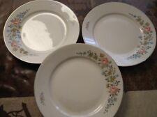 3 piatti PORCELLANA BAVARIA antichi bordo filo oro vintage porcelain plate gold