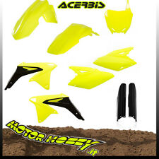 KIT PLASTICHE FULL KIT ACERBIS SUZUKI RMZ 250 10 - 17  2018 GIALLO FLUO NERO