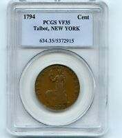 1794 1C Talbot Allum & Lee New York One Cent Copper PCGS VF35