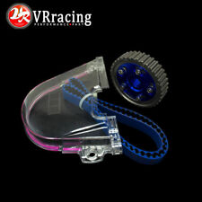 HNBR Racing Timing Belt+Aluminum Cam Gear+Clear Cover FOR 92-00 Civic D16Z D16Y