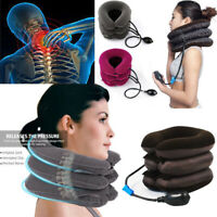 New Massager Neck Brace Support Cervical Collar Air Traction Therapy Device