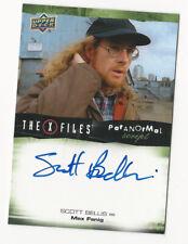 Scott Bellis The X Files Ufos & Aliens Paranormal Script Autograph Card Auto