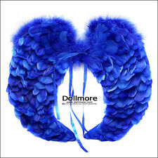 Dollmore BJD Article Size SD - Round feathers wings (Blue)