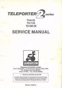 Sanderson Teleporter T2 Telehandler 6-22 7-25 5M-26 Workshop Repair Manual