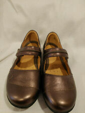 Clarks Artisian Unstructured Un Helma Bronze Leather Mary Jane Shoe Size 9.5 W