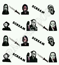 Scream Nail decals Free (Water Decals) Horror Film nail art.