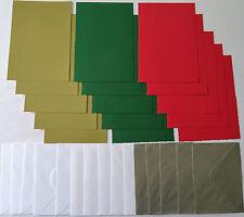 15 A6 Christmas Card Blanks & 15 Enverlopes