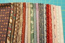 20 ASSORTED CIVIL WAR REPRODUCTION QUILT FABRIC FAT QUARTERS BY MARCUS