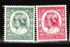 Germany Deutsches Reich 1934 Mi. Nr. 554-555 175th Anniv. Schiller's Birth MLH