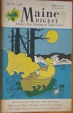 MAINE DIGEST~SPRING 1968 BACK ISSUE~HARD TO FIND