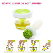 Oil Bottle with Brush Set Heat Resistant Barbecue Brush with Glass Oil Container