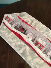Handcrafted-Quilted Table Runner - It's a Winter Wonderland - A Snowy Night
