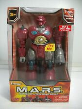 """M.A.R.S. Motorized Attack Robo Squad - Red Robot Hap-p-kid 7"""" Walking Robot ~NEW"""