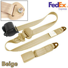 Beige Adjustable 3 Poin Heavy Duty Nylon Straps Seat Belt Lap Amp Diagonal Belt Fits More Than One Vehicle