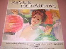 1899. ORIGINAL 'REVUE PARISIENNE' ART NOUVEAU DESIGN COVER. FOR FRAMING, DISPLAY