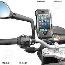 Motorrad Halterung iPhone SE 5 5S 5C Hardcase wetterfest für 8mm / 10mm Spiegel