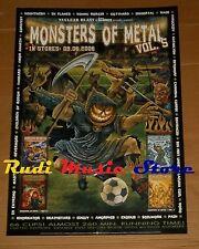 POSTER PROMO MONSTERS OF METAL VOL. 5 84 X 59,5 cm DEATHSTARS-GOTTHARD-EDGUY....