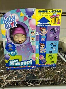 Baby Alive Baby Grows Up Bonus 14 Party Surprises English & Spanish 75+ Phrases