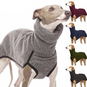 Dog Pet Winter Soft Cloth Greyhound Whippet Lurcher Jumper High Neck Sweater