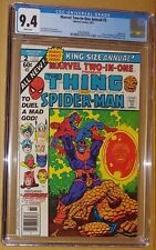 MARVEL TWO-IN-ONE ANNUAL #2 CGC GRADED 9.4! SPIDERMAN, THANOS, AVENGERS, WARLOCK