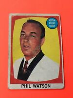 Phil Watson 1961-62 Topps Hockey Card #1 Boston Bruins