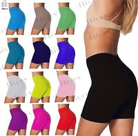 Womens Cotton Shorts Cycling Dance Leggings 1/2 Length lot All Sizes & Colours