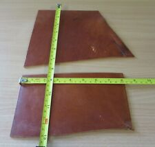 2 ANTIQUE TAN  BRIDLE LEATHER OFF CUTS 3mm THICK   - CLEARANCE