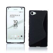 Pour Sony Xperia X Compact Coque en Gel Silicone S-line S-Ligne Noir