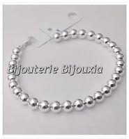Bracelet Maille Boule Argent Massif 925/000 Bijoux Femme Neuf