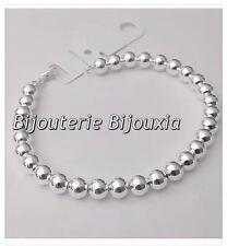Bracelet Maille Boule - Argent Massif 925/000 Bijoux Femme Neuf