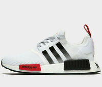 Adidas Originals NMD_R1 GS ® ( Sizes UK: 4 & 5 ) White / Black / Red Latest NEW
