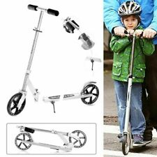 Folding Portable Adjustable Kick Scooter Aluminum Lightweight Kids/Adult Silver