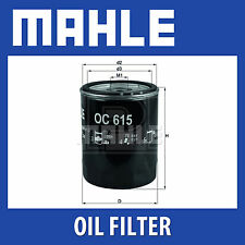 Mahle Oil Filter OC615 - Fits Ford Ranger, Mazda BT.50 - Genuine Part