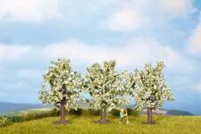 NOCH 25511 N Gauge/Z Fruit trees, white flowering, 3 Piece, 1 4/5in high   in