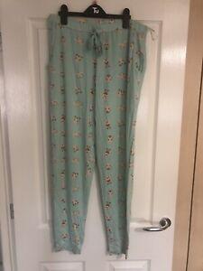 BNWT TU Ladies Mint Green Bunny Pyjama Bottoms Size 14