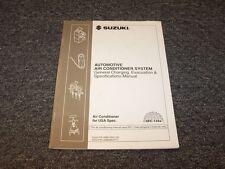 1997 Suzuki Sidekick SUV Air Conditioner Conditioning Service Manual JS JX JLX
