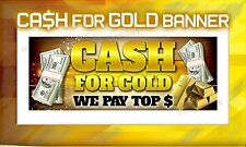 Cash for Gold outdoor vinyl banner poster sign jewelry silver coin pawn shop