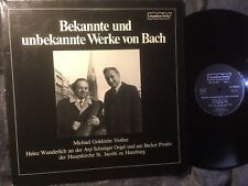 GOLDSTEIN Michael BACH Violin SONATA, FUGUE, ADAGIO, 1978 HAMBURG MUSICA VIVA NM