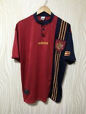 SPAIN 1996 1997 1998 ADIDAS HOME FOOTBALL SOCCER SHIRT JERSEY CAMISETA