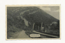 NEAT UNUSED VINTAGE RPPC POSTCARD RAINBOW ROCKS CLIFTON FORGE VA TRAIN TRACKS