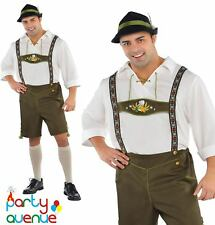Adult Mr Oktoberfest Costume Mens Bavarian Fancy Dress Lederhosen Plus Size